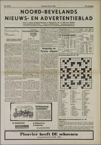 Noord-Bevelands Nieuws- en advertentieblad 1967-07-29