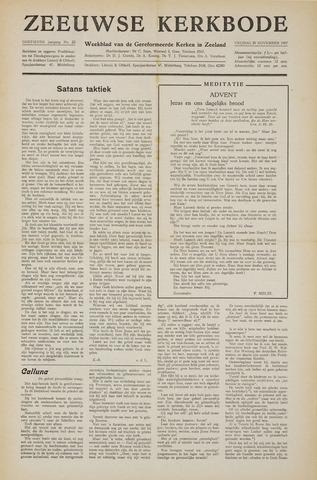 Zeeuwsche kerkbode, weekblad gewijd aan de belangen der gereformeerde kerken/ Zeeuwsch kerkblad 1957-11-29