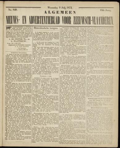 Ter Neuzensche Courant. Algemeen Nieuws- en Advertentieblad voor Zeeuwsch-Vlaanderen / Neuzensche Courant ... (idem) / (Algemeen) nieuws en advertentieblad voor Zeeuwsch-Vlaanderen 1873-07-09