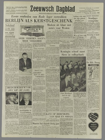 Zeeuwsch Dagblad 1958-11-22
