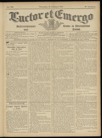 Luctor et Emergo. Antirevolutionair nieuws- en advertentieblad voor Zeeland / Zeeuwsch-Vlaanderen. Orgaan ter verspreiding van de christelijke beginselen in Zeeuwsch-Vlaanderen 1913-02-26