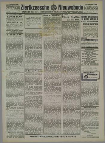 Zierikzeesche Nieuwsbode 1934-06-29