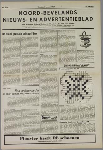 Noord-Bevelands Nieuws- en advertentieblad 1969-02-01