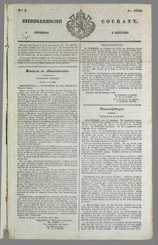 Zierikzeesche Courant 1844-01-02