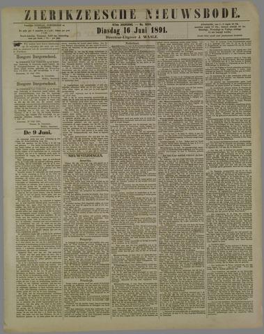 Zierikzeesche Nieuwsbode 1891-06-16