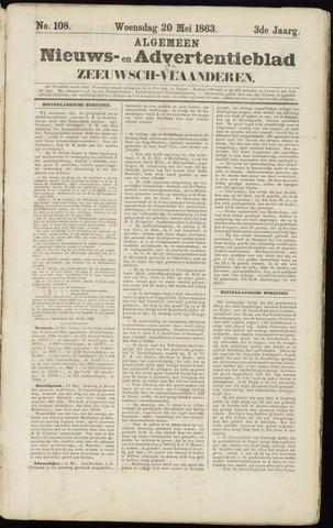 Ter Neuzensche Courant. Algemeen Nieuws- en Advertentieblad voor Zeeuwsch-Vlaanderen / Neuzensche Courant ... (idem) / (Algemeen) nieuws en advertentieblad voor Zeeuwsch-Vlaanderen 1863-05-20