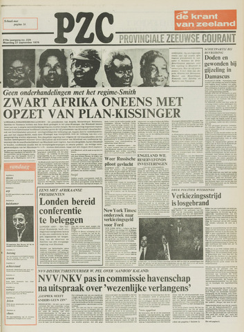 Provinciale Zeeuwse Courant 1976-09-27