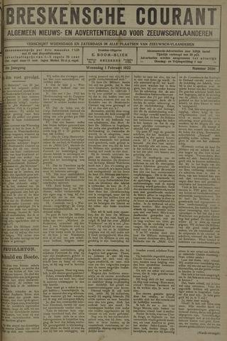 Breskensche Courant 1922-02-01