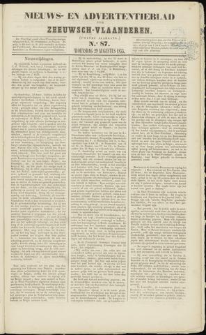 Ter Neuzensche Courant. Algemeen Nieuws- en Advertentieblad voor Zeeuwsch-Vlaanderen / Neuzensche Courant ... (idem) / (Algemeen) nieuws en advertentieblad voor Zeeuwsch-Vlaanderen 1855-08-29