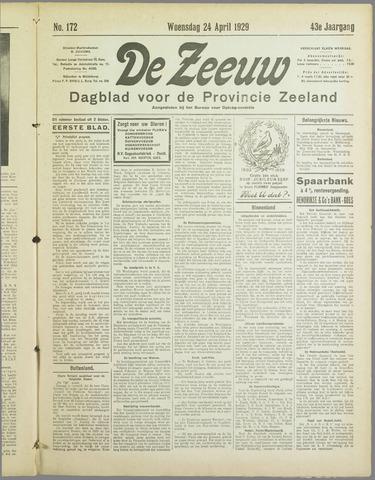 De Zeeuw. Christelijk-historisch nieuwsblad voor Zeeland 1929-04-24