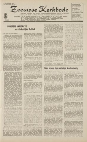 Zeeuwsche kerkbode, weekblad gewijd aan de belangen der gereformeerde kerken/ Zeeuwsch kerkblad 1962-11-02