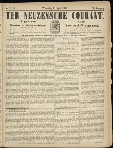 Ter Neuzensche Courant. Algemeen Nieuws- en Advertentieblad voor Zeeuwsch-Vlaanderen / Neuzensche Courant ... (idem) / (Algemeen) nieuws en advertentieblad voor Zeeuwsch-Vlaanderen 1883-04-18