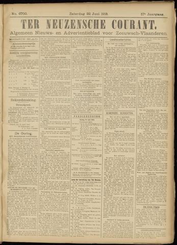 Ter Neuzensche Courant. Algemeen Nieuws- en Advertentieblad voor Zeeuwsch-Vlaanderen / Neuzensche Courant ... (idem) / (Algemeen) nieuws en advertentieblad voor Zeeuwsch-Vlaanderen 1918-06-22