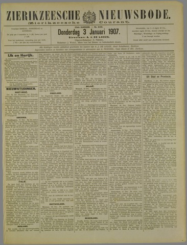 Zierikzeesche Nieuwsbode 1907-01-03