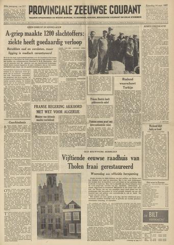 Provinciale Zeeuwse Courant 1957-09-14
