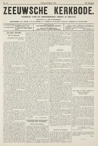 Zeeuwsche kerkbode, weekblad gewijd aan de belangen der gereformeerde kerken/ Zeeuwsch kerkblad 1934-03-30