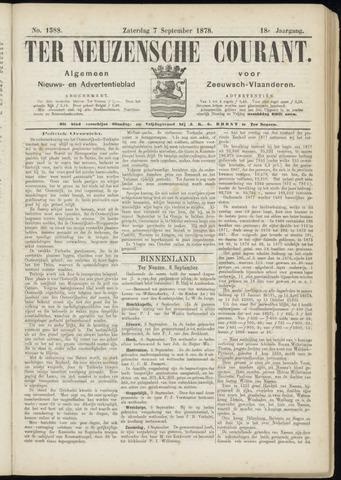 Ter Neuzensche Courant. Algemeen Nieuws- en Advertentieblad voor Zeeuwsch-Vlaanderen / Neuzensche Courant ... (idem) / (Algemeen) nieuws en advertentieblad voor Zeeuwsch-Vlaanderen 1878-09-07