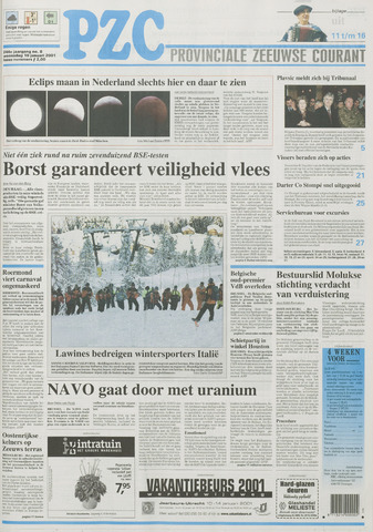 Provinciale Zeeuwse Courant 2001-01-10