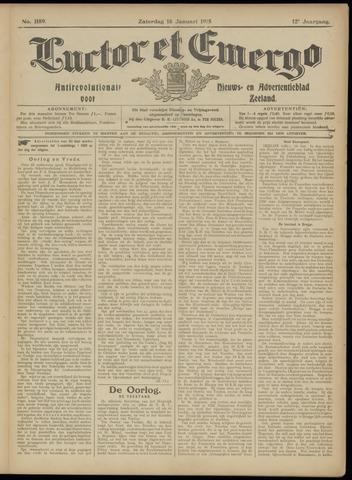 Luctor et Emergo. Antirevolutionair nieuws- en advertentieblad voor Zeeland / Zeeuwsch-Vlaanderen. Orgaan ter verspreiding van de christelijke beginselen in Zeeuwsch-Vlaanderen 1915-01-16