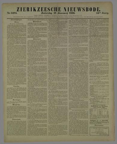 Zierikzeesche Nieuwsbode 1888-01-28