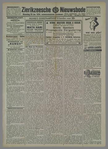 Zierikzeesche Nieuwsbode 1934-01-29