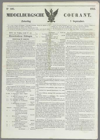 Middelburgsche Courant 1855-09-01
