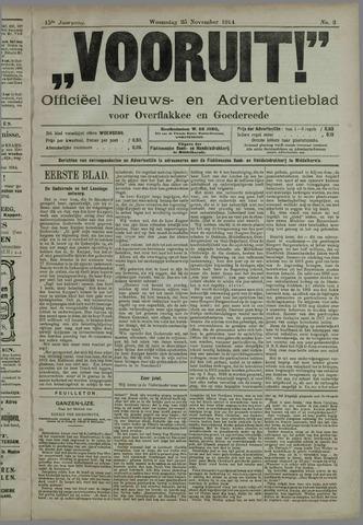 """""""Vooruit!""""Officieel Nieuws- en Advertentieblad voor Overflakkee en Goedereede 1914-11-25"""