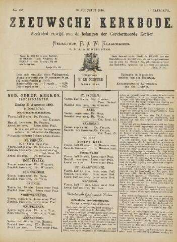 Zeeuwsche kerkbode, weekblad gewijd aan de belangen der gereformeerde kerken/ Zeeuwsch kerkblad 1890-08-30