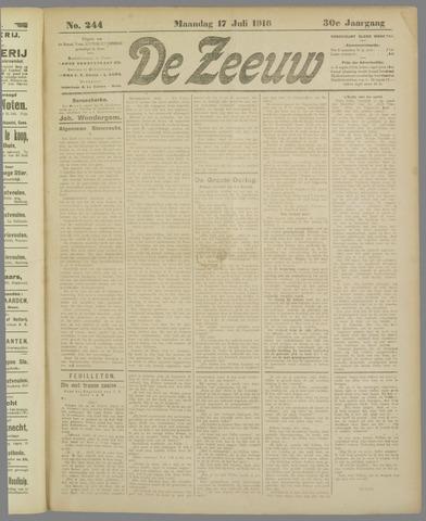 De Zeeuw. Christelijk-historisch nieuwsblad voor Zeeland 1916-07-17