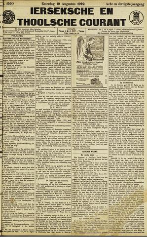 Ierseksche en Thoolsche Courant 1922-08-19