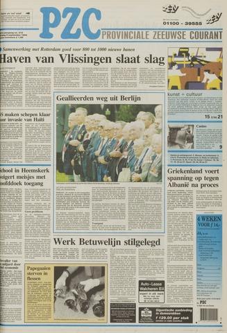 Provinciale Zeeuwse Courant 1994-09-09