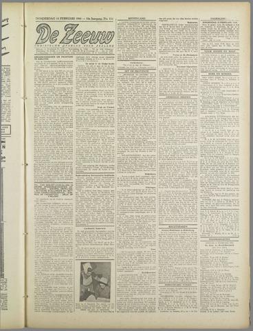 De Zeeuw. Christelijk-historisch nieuwsblad voor Zeeland 1944-02-10