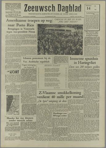 Zeeuwsch Dagblad 1958-05-14