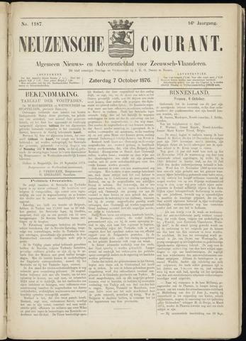 Ter Neuzensche Courant. Algemeen Nieuws- en Advertentieblad voor Zeeuwsch-Vlaanderen / Neuzensche Courant ... (idem) / (Algemeen) nieuws en advertentieblad voor Zeeuwsch-Vlaanderen 1876-10-07