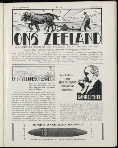 Ons Zeeland / Zeeuwsche editie 1927-06-11