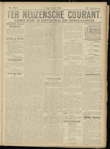 Ter Neuzensche Courant. Algemeen Nieuws- en Advertentieblad voor Zeeuwsch-Vlaanderen / Neuzensche Courant ... (idem) / (Algemeen) nieuws en advertentieblad voor Zeeuwsch-Vlaanderen 1924-07-04