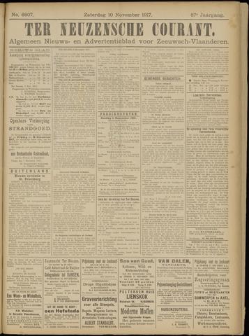 Ter Neuzensche Courant. Algemeen Nieuws- en Advertentieblad voor Zeeuwsch-Vlaanderen / Neuzensche Courant ... (idem) / (Algemeen) nieuws en advertentieblad voor Zeeuwsch-Vlaanderen 1917-11-10