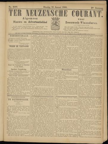 Ter Neuzensche Courant. Algemeen Nieuws- en Advertentieblad voor Zeeuwsch-Vlaanderen / Neuzensche Courant ... (idem) / (Algemeen) nieuws en advertentieblad voor Zeeuwsch-Vlaanderen 1898-01-25