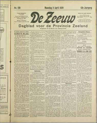 De Zeeuw. Christelijk-historisch nieuwsblad voor Zeeland 1929-04-08
