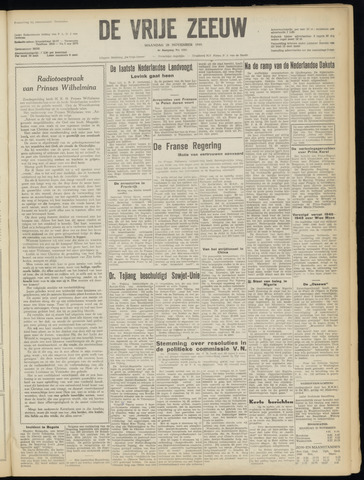 de Vrije Zeeuw 1949-11-28