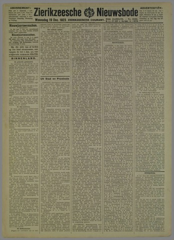 Zierikzeesche Nieuwsbode 1923-12-19