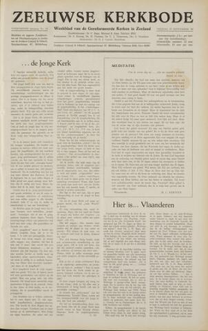 Zeeuwsche kerkbode, weekblad gewijd aan de belangen der gereformeerde kerken/ Zeeuwsch kerkblad 1958-09-19