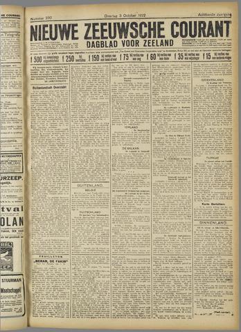 Nieuwe Zeeuwsche Courant 1922-10-03