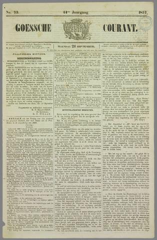 Goessche Courant 1857-09-21