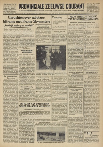 Provinciale Zeeuwse Courant 1950-06-17