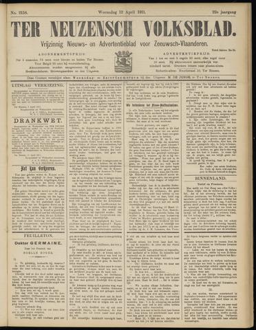 Ter Neuzensch Volksblad. Vrijzinnig nieuws- en advertentieblad voor Zeeuwsch- Vlaanderen / Zeeuwsch Nieuwsblad. Nieuws- en advertentieblad voor Zeeland 1911-04-12