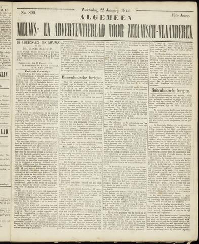 Ter Neuzensche Courant. Algemeen Nieuws- en Advertentieblad voor Zeeuwsch-Vlaanderen / Neuzensche Courant ... (idem) / (Algemeen) nieuws en advertentieblad voor Zeeuwsch-Vlaanderen 1873-01-22