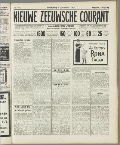 Nieuwe Zeeuwsche Courant 1913-11-06