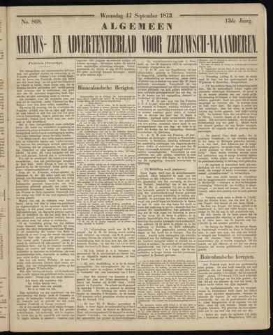 Ter Neuzensche Courant. Algemeen Nieuws- en Advertentieblad voor Zeeuwsch-Vlaanderen / Neuzensche Courant ... (idem) / (Algemeen) nieuws en advertentieblad voor Zeeuwsch-Vlaanderen 1873-09-17