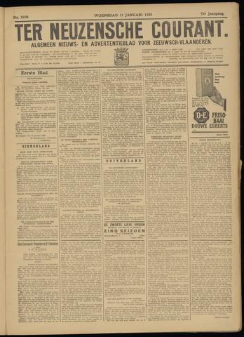Ter Neuzensche Courant. Algemeen Nieuws- en Advertentieblad voor Zeeuwsch-Vlaanderen / Neuzensche Courant ... (idem) / (Algemeen) nieuws en advertentieblad voor Zeeuwsch-Vlaanderen 1933-01-11